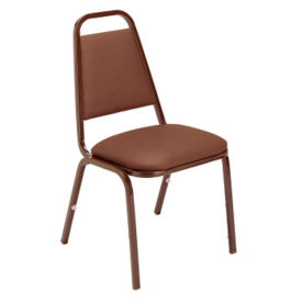 Stack Chair with Vinyl Seat and Back, C67702