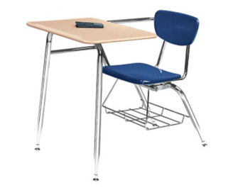 "Virco 3400 Hard Plastic Chair Desk 18"" High, D57062"
