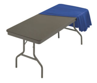 "Folding Table in ABS Plastic 30"" Wide x 72"" Long, T10525"