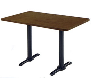 "Table with Bi-Point Base 30"" Wide x 42"" Long, T10611"