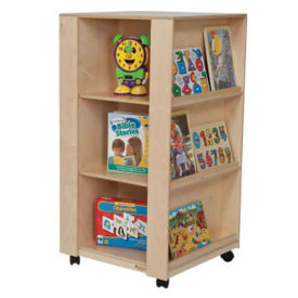 Mobile 4-Sided Bookcase, P30101