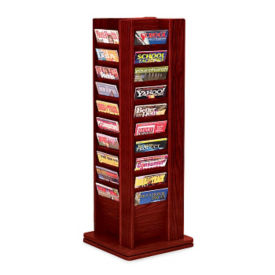 Rotating Literature Rack with 40 Magazine Pockets, L40297