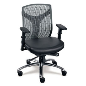 Vector Plastic Back Conference Chair with Polyurethane Seat, C80440