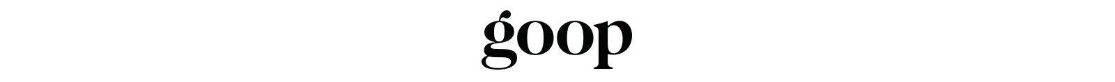 Goop logo.