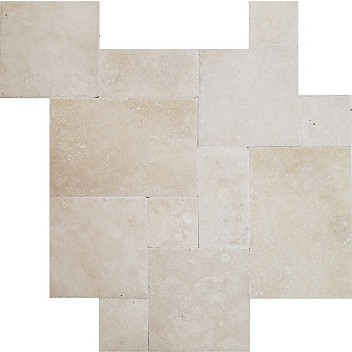 Natural Stone Extra Light Ivory Versailles Pattern