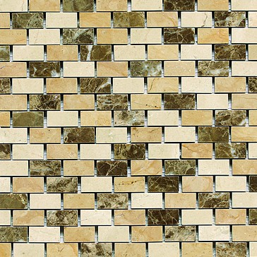 Daltile Marble Collection Adda Blend BrickJoint Polished Mosaic - Daltile marble threshold