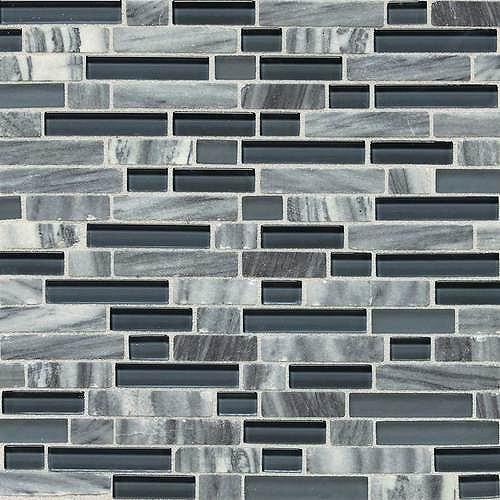Dal Tile Stone Radiance Glacier Gray Marble Random Mosaic