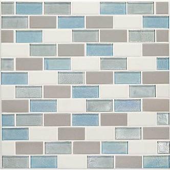 Mediterranean Mist 2 X 1 Brick Joint Mosaic Ck92 7633