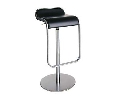 LEM Piston Stool with Leather Seat