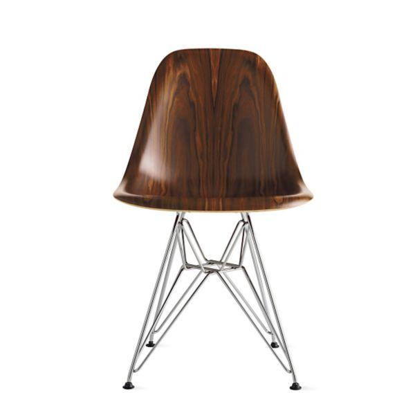 De Eames Stoel : Eames molded wood side chair wire base herman miller