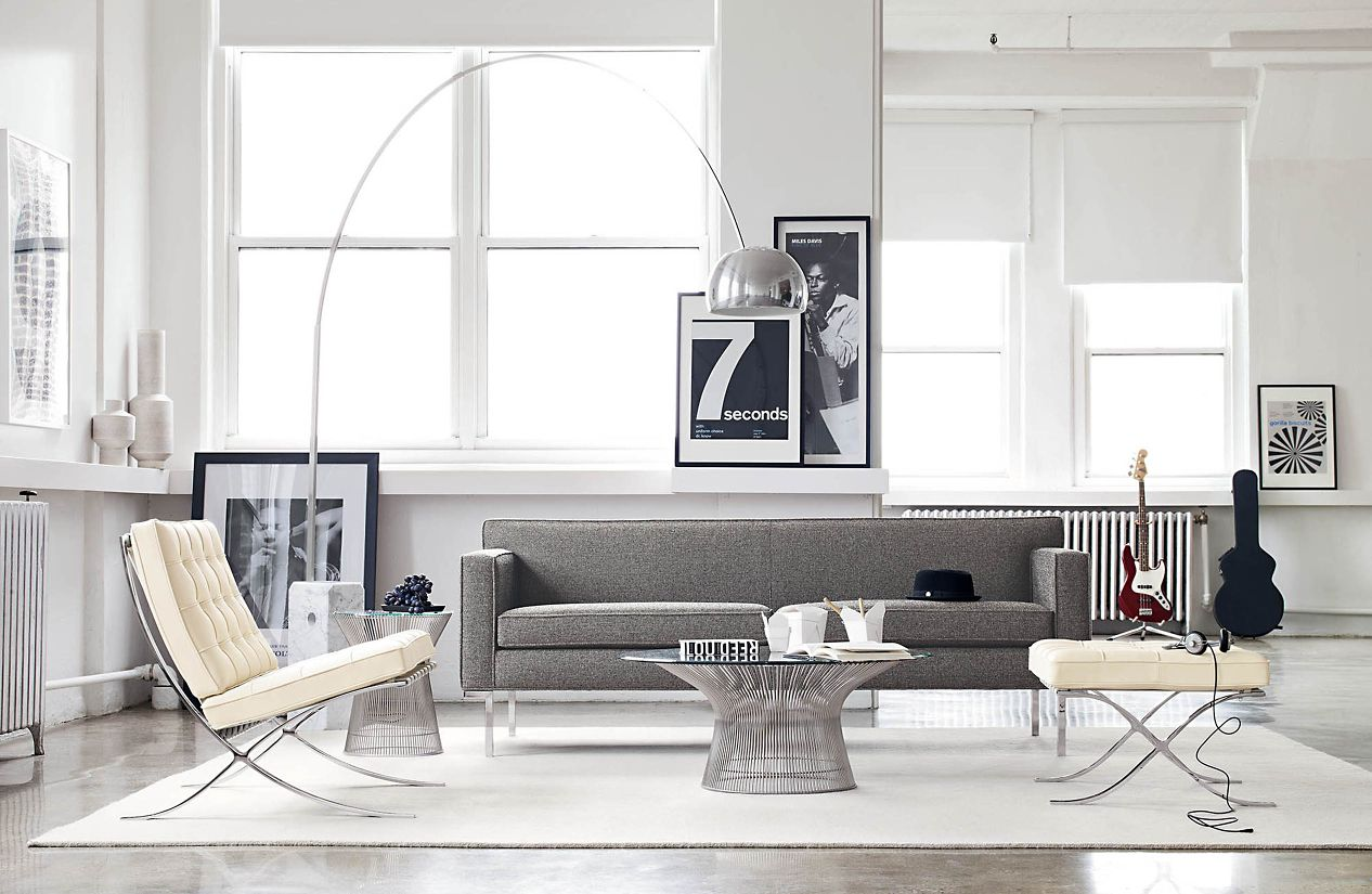 amusing decorating ideas living rooms barcelona chairs | Barcelona® Chair - Design Within Reach