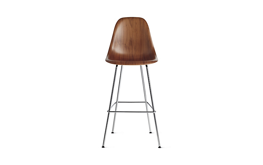 Eames® Molded Wood Barstool, DWHBX