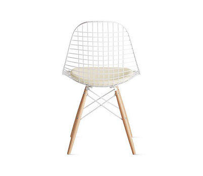 Eames® Dowel-Leg Wire Chair with Seat Pad (DKW.5)