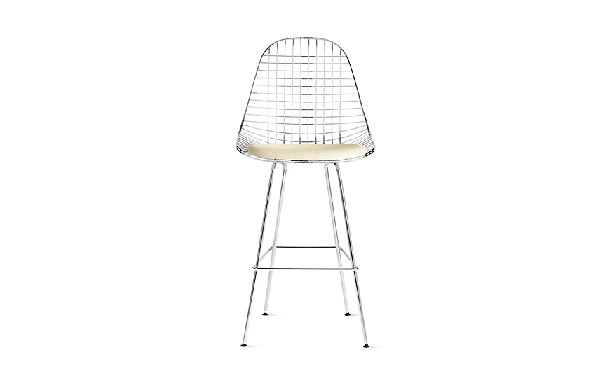 Eames® Wire Barstool with Seat Pad (DKHBX.5)