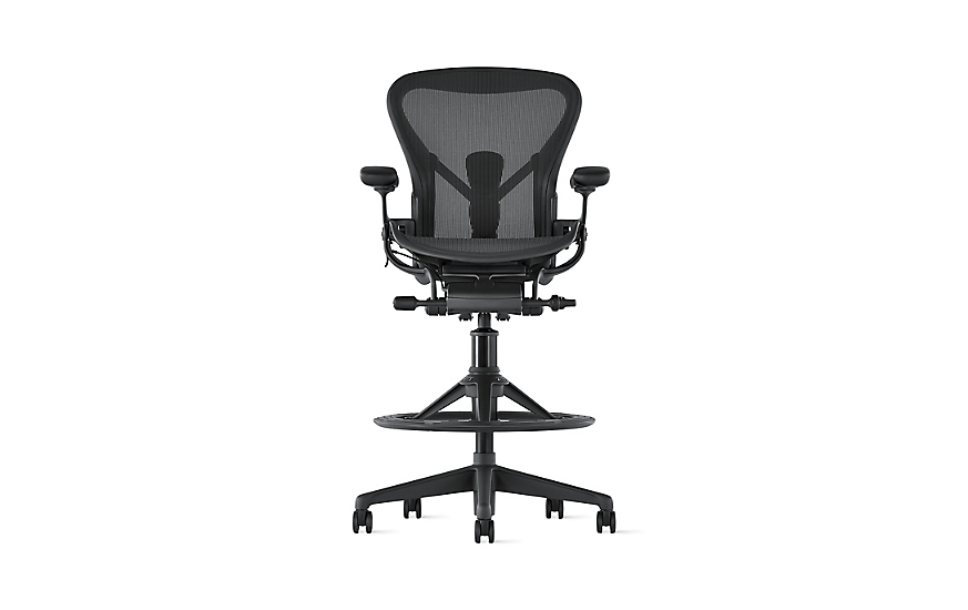 Aeron Stool Counter Height Herman Miller