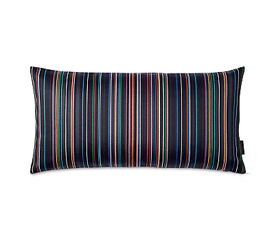 Maharam Pillow in Narrow Sequential Stripes