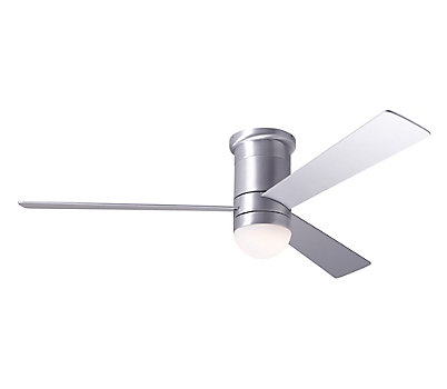 Cirrus Flush Ceiling Fan with LED Light and Remote