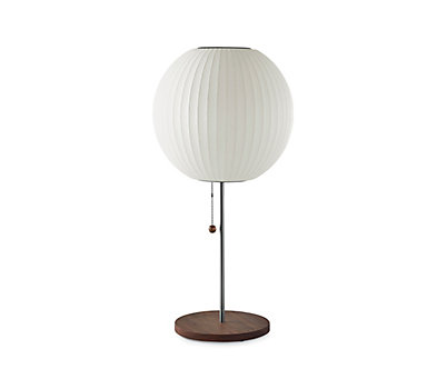 Nelson® Ball Table Lamp, Walnut Base