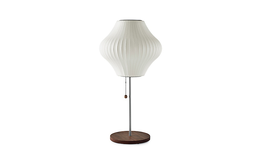 Nelson™ Pear Table Lamp, Walnut Base