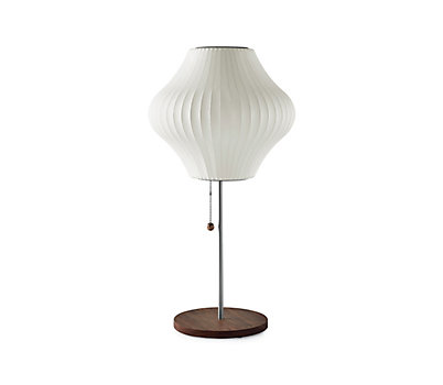 Nelson® Pear® Table Lamp, Walnut Base