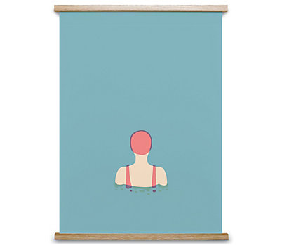 "Paper Collective Poster, ""The Swimmer 01"""