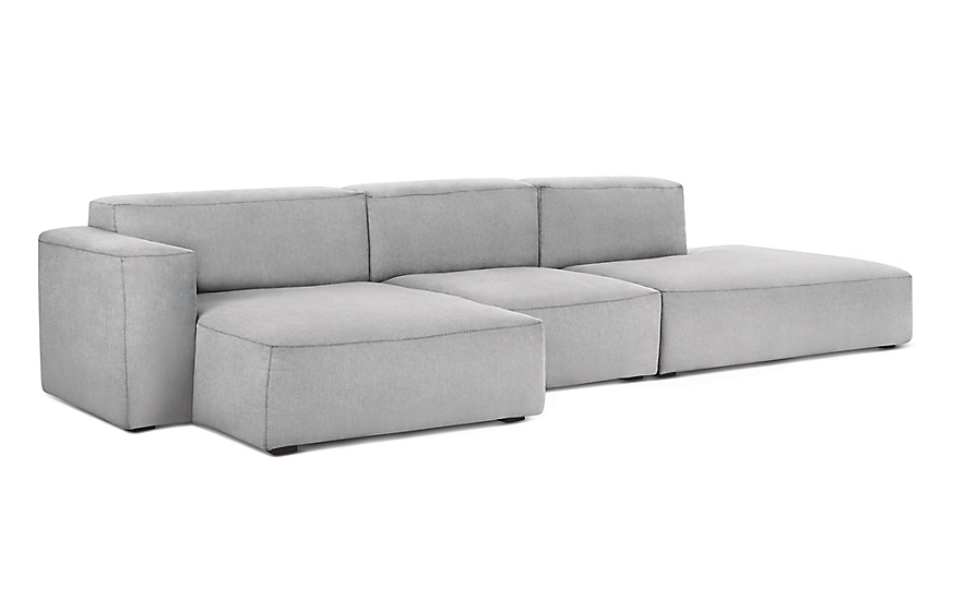 Mags Soft Low Wide Sectional With