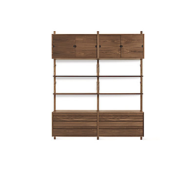 Royal System® Shelving Unit B with Mixed Cabinets