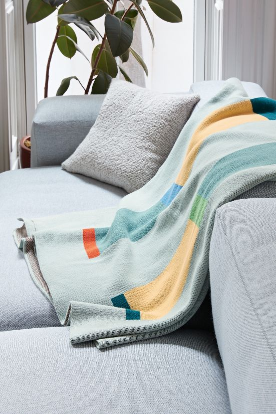 Totem Cotton Knit Throw