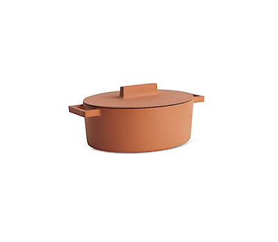 Terra Cotto Large Oval Casserole with Lid