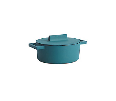 Terra Cotto Large Round Casserole with Lid