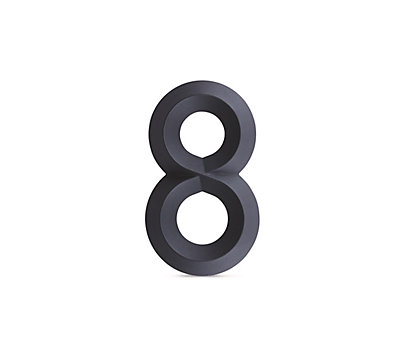 Beveled House Numbers