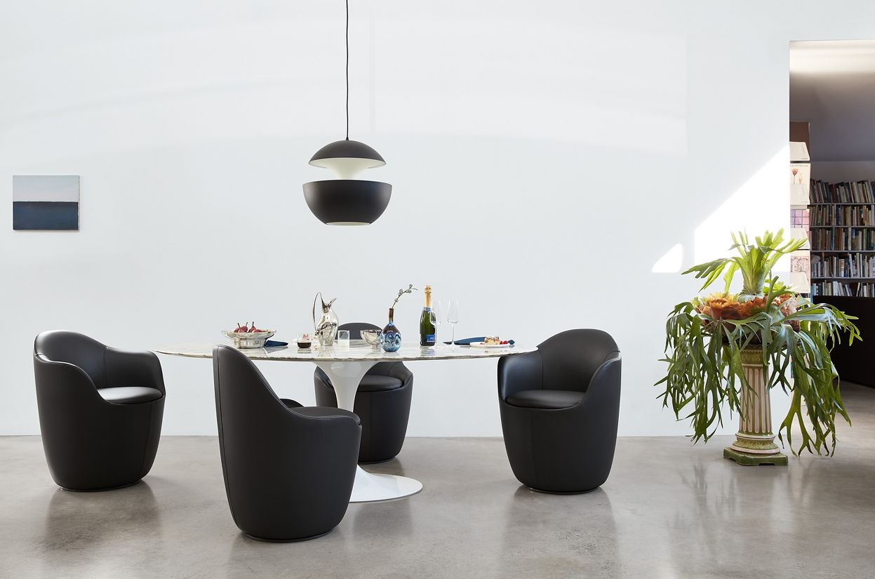 Lína Swivel Dining Armchair