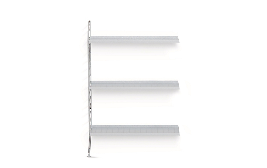 String Galvanized Floor Shelving Extension