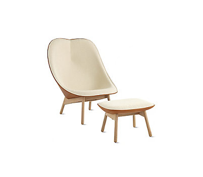 Uchiwa Lounge Chair & Ottoman