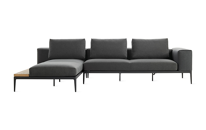 Grid Sofa With Chaise Design Within Reach