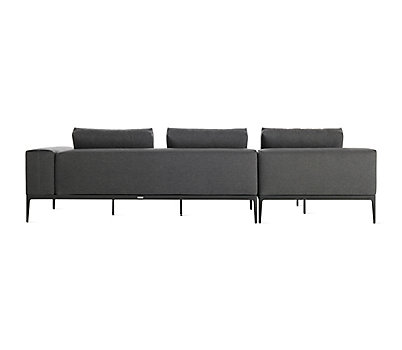 Grid Sofa with Chaise