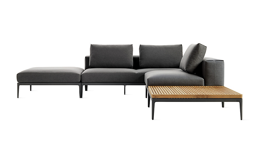 Outstanding Grid Corner Sectional With Table Beatyapartments Chair Design Images Beatyapartmentscom