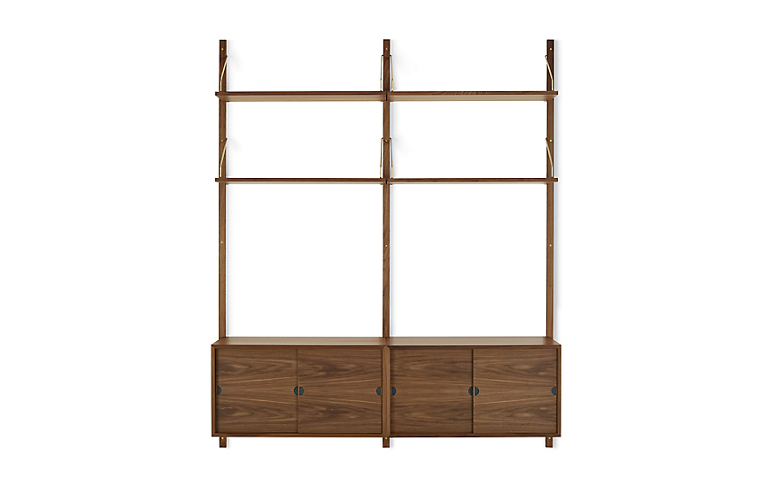 Royal System® Shelving Unit B with Sliding Door Cabinets