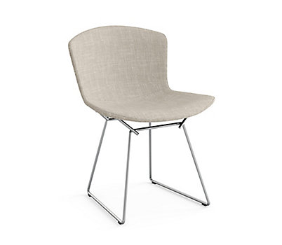 Bertoia Side Chair with Full Cover in Classic Bouclé