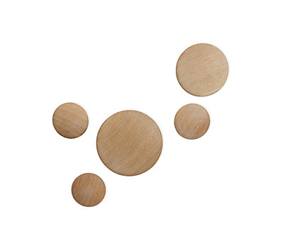 Wood Coatrack Dots, Set of 5