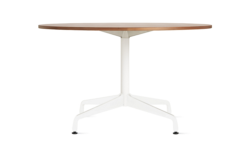 Eames table with round top and segmented base herman miller for Html table th always on top