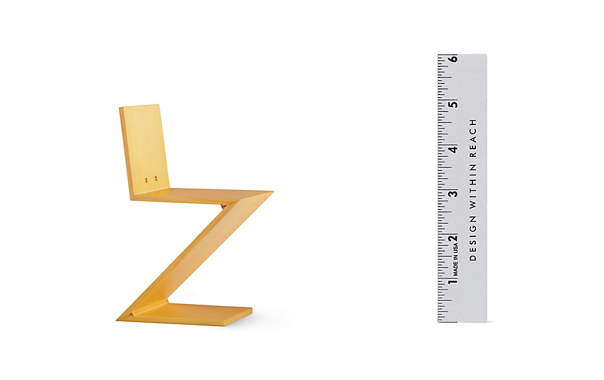 Vitra Miniatures Collection: Rietveld Zig Zag Stool