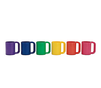 Heller Rainbow Mugs, Set of 6