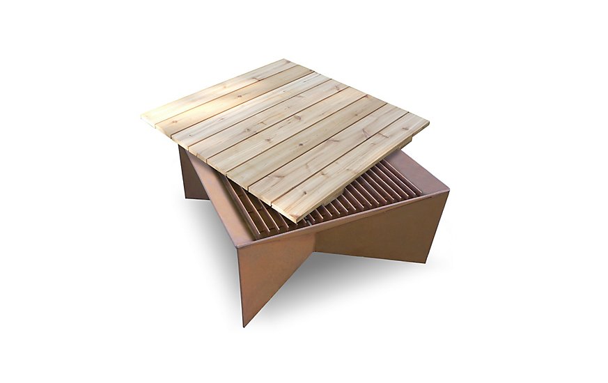 Cedar Top for Plodes® Geometric Fire Pit