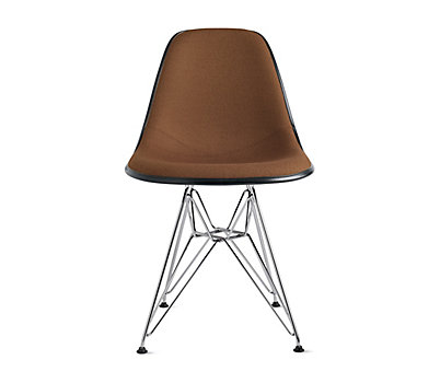 Eames® Upholstered Molded Fiberglass Wire-Base Side Chair (DFSR)