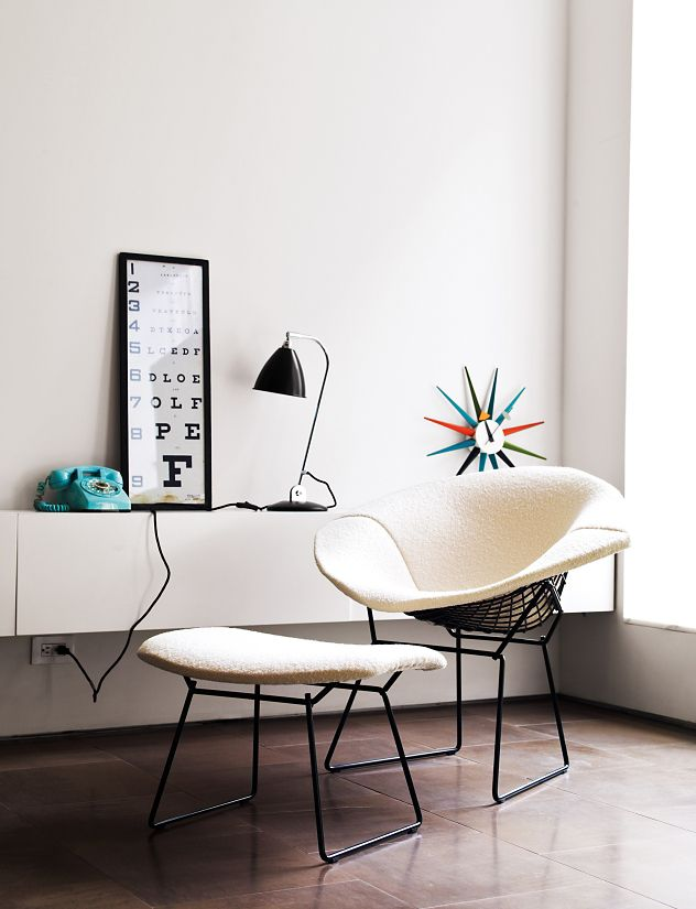 Bertoia Diamond Lounge Chair Design Within Reach