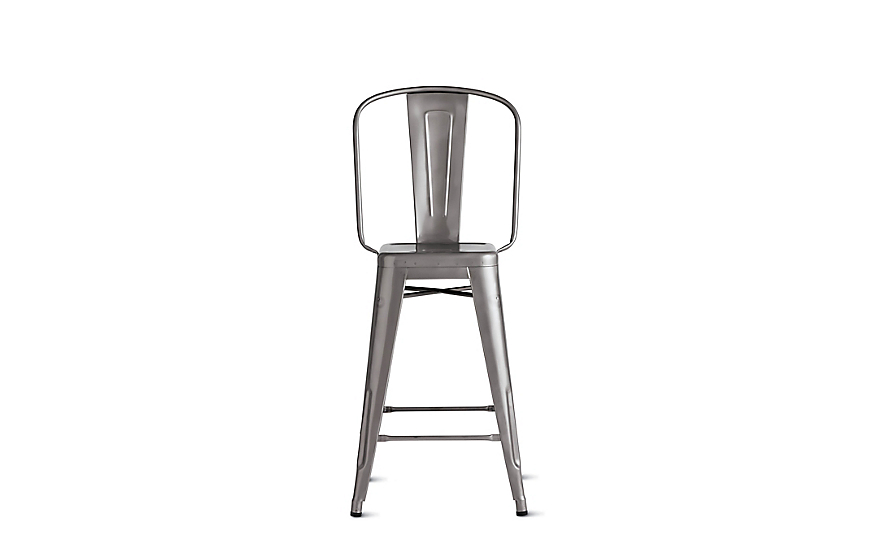 Tolix® Marais Counter Stool with High Back