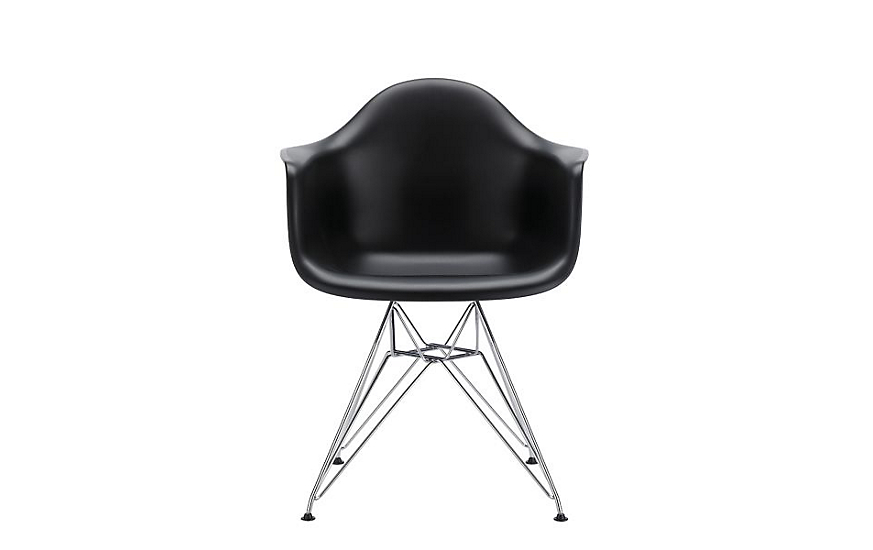 eames molded plastic armchair wire base herman miller. Black Bedroom Furniture Sets. Home Design Ideas