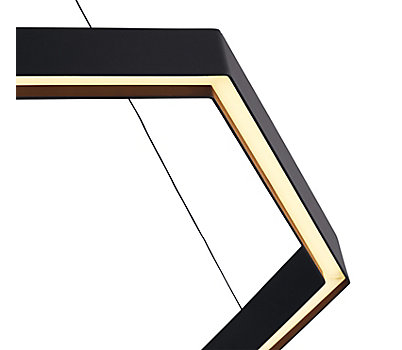 Geometric Hex LED Pendant