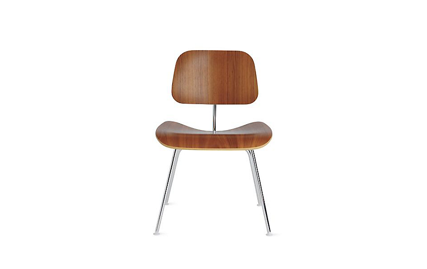 eames molded plywood dining chair with metal base herman miller. Black Bedroom Furniture Sets. Home Design Ideas